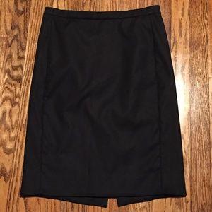 J Crew Cotton Black Pencil Skirt 4 Lined